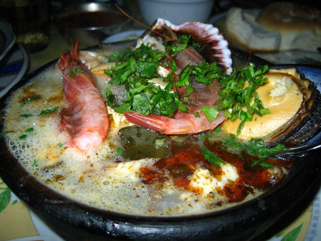 Comida chilena mariscos