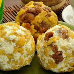 Comida ecuatoriana - Bolón de verde