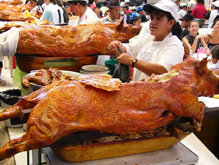 Comida ecuatoriana - Hornado