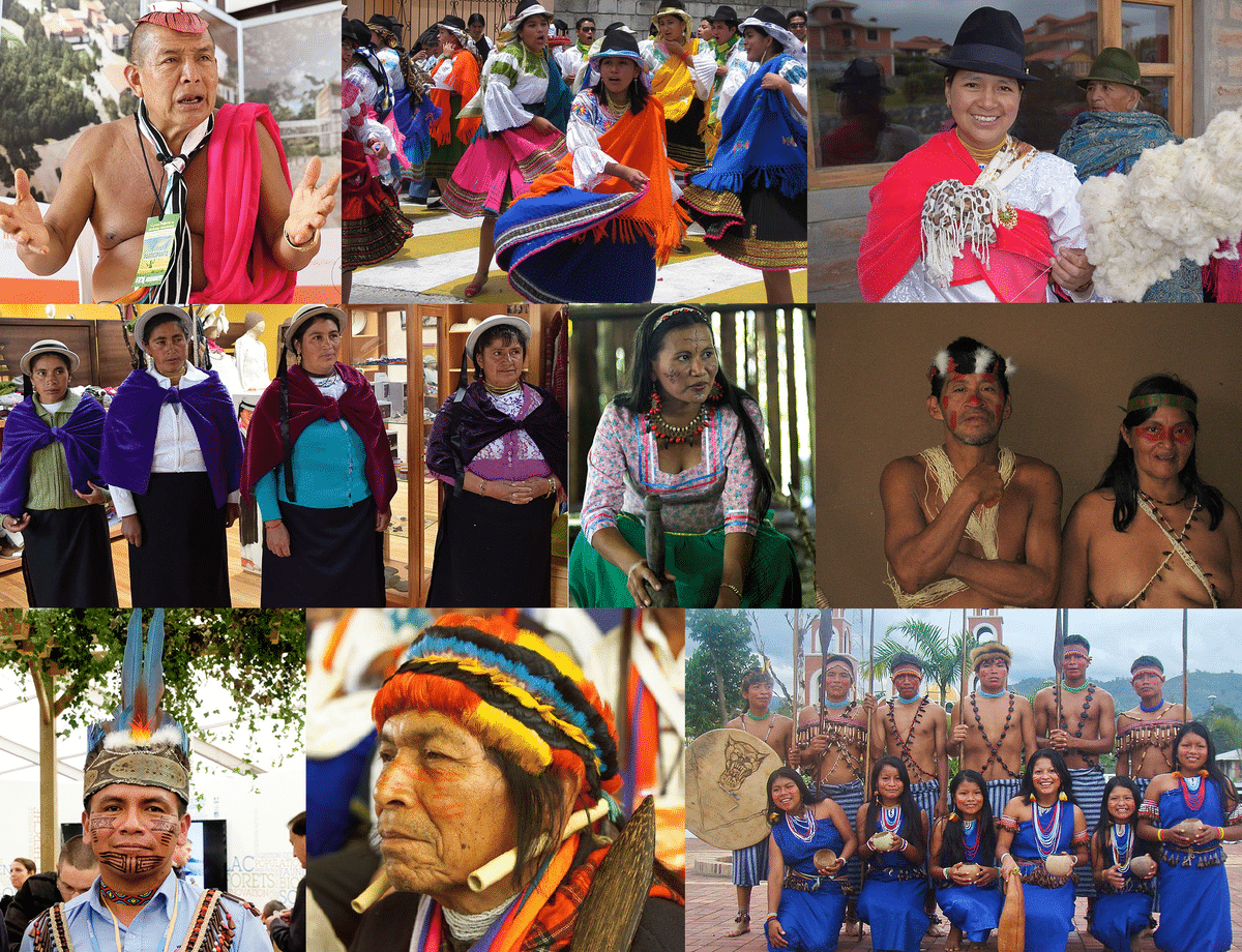 Etnias del Ecuador - Distintas etnias