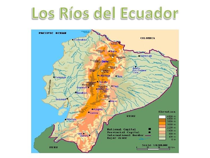Etnias del Ecuador - Hidrografía