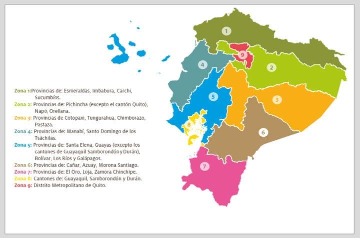 Etnias del Ecuador - Zonas