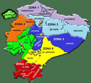 Zuar - Zonas administrativas