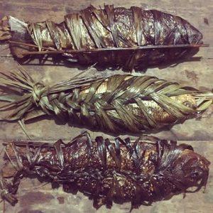 pescado moqueado tipico de Guainía