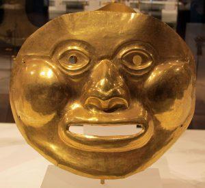 máscaras de oro precolombino