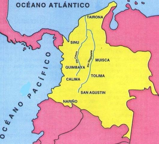 mapa de la cultura chibcha