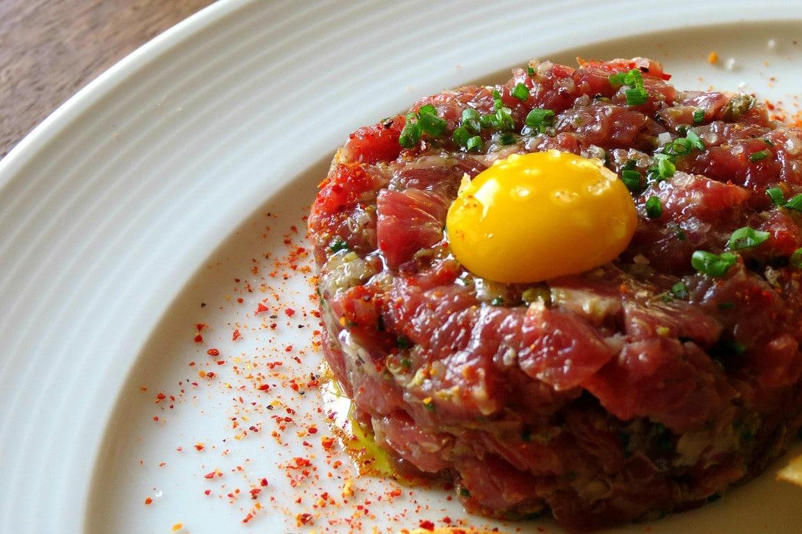 Comida Francesa Carne Cruda: