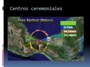 La Cultura olmeca y sus centros