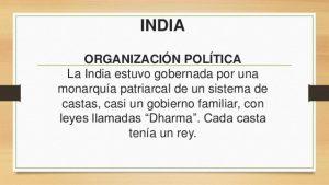 Organización social y política de la Cultura India: