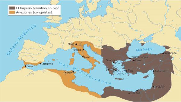 localizacion origen arte bizantino