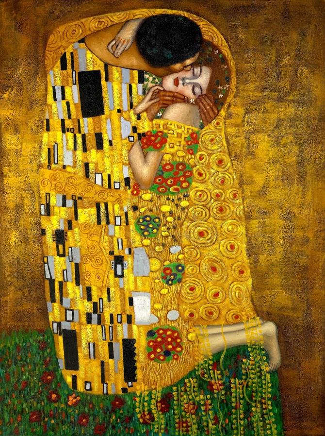 el beso pintura contemporanea
