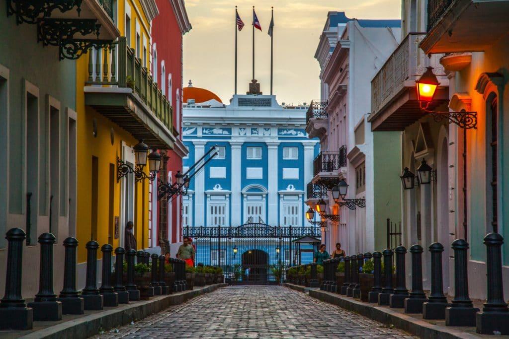 calles del viejo San Juan centro de la cultura de Puerto Rico