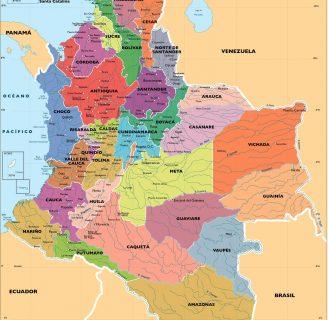 Descubre todo sobre lo referente al Mapa Político de Colombia